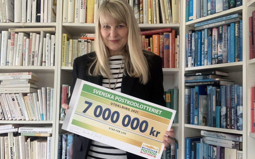 7 miljoner till Star for Life från Postkodlotteriet