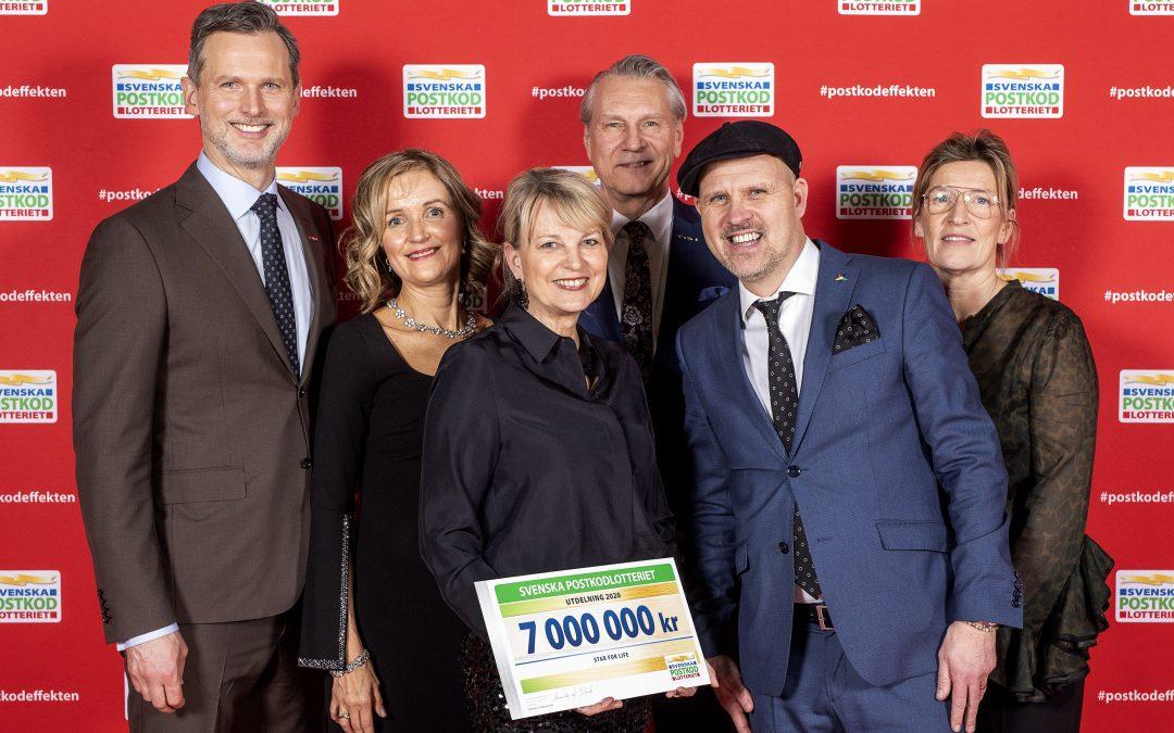 7 miljoner kronor i stöd från Postkodlotteriet till Star for Life